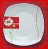 hot sale flower decal dinner plate