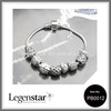 Legenstar vintage jewelry, fashion beautiful silver plated charm beads bracelet handmade beaded jewelry