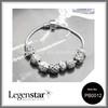 Legenstar vintage jewelry, fashion beautiful silver plated charm beads bracelet handmade beaded jewelry