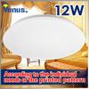 Customizable design 12w led round ceiling light White Lampshade Lamp AC85V-260V Cool/Warm White LED Lighting round ceiling light
