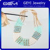 2014 Fashion Beaded Necklaces, Metal Chain Necklaces