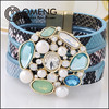 Hot snack pattern bracelet leather elements magnetic fashion bracelets vners