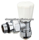 Brass Radiator Valve with Water Polishing Chrome Plated