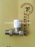 Angle Radiator Valves Nickel White handle Female