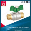 Brass ball valve with iron handle Europe style