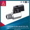 brass mini ball valve with black handle