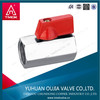 brass mini ball valve with red aluminum handle