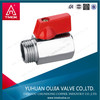 brass mini ball valve with red aluminum handle DN8-DN15