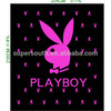 2014 summer cartoon new playboy flannel fleece fabric