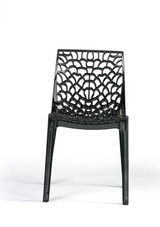 Polycarbonate PC plastic material groove dining chair