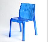 Acrylic Italian design colorful plastic chair frilly chair