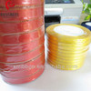 high quality gold edge satin ribbon for Garment accessories ribbon Christmas gift ribbon packing ribbon yellow red ...different