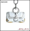 New Fashion Enamel and Crystal Handbag Keychain