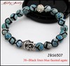 gemstone jewelry Natural stone and pave ball Buddha bracelet
