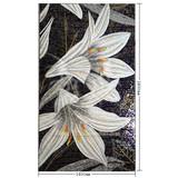 Flower MOSAIC crystal mosaic wall tile