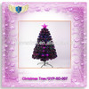 2015 Hot selling Black Pine needles LED fiber optic Christmas Tree