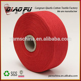 high quality blended cotton yarn red blended knitting weaving yarn