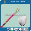 China selling high quality low price 26awg Cable Cat5e UTP cat5e utp cable cat5e lan cable with rohs