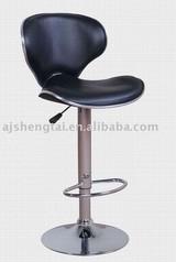 Swivel leather bar chair
