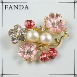 Wholesale pearl brooch/real natural pearl brooch