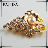 Freshwater pearl brooch wholesale cheap gold bulk jewelry