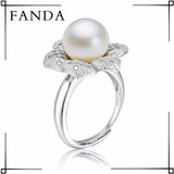 Pearl ring/Sterling silver pearl ring design