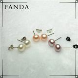 Freshwater pearl earrings/pearl earring stud