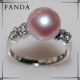 Freshwater pearl rings/Latest pearl ring design