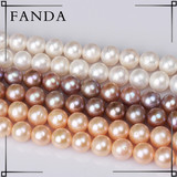 Natural round pearl strands beads wholesale/real freshwater pearl strand