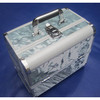 attractive aluminum makeup case with trays. make up box