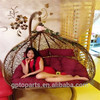 wholesale egg chaped swing hammock chair swing chair hanging pod chair rattan outdoor hammock swing chair