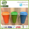 factory direct bamboo hot drinking cup with silicone