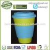all natural biodegradable eco bamboo cup with silicone
