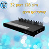 New best ACD/ASR goip 32 port 128 sim voip gateway , avoid sim blocking goip product voip gateway