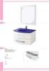 Smiple modern PVC bathroom cabinet 80cm white waterproof bathroom vanity with mirror