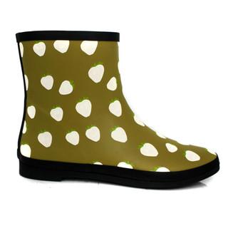 ladies transparent rain boots