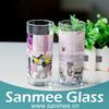 2PCS 290ml City Life Pattern Decal Glass Tumbler