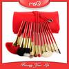 MSQ High-end 12pcs Red Goat Hair makeup Brush Set
