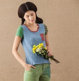 2014 new style wholesale beautiful printing cool pictture women 1 dollar t shirts