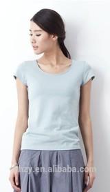 2014 latest wholesale blank t- shirt&custom&plain white t-shirt designfor women