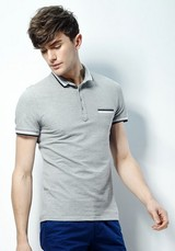 china wholesale customed polyester cotton polo shirt for men