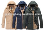 Mens jackets Fashion Heavy winter snowy Jacket for Men with hood removable