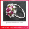 Unique Jewelry Silver Jewelry Ring With Colorful Quartz Stone Wholesale Price