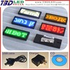 B729 yellow led name card,led car mini led moving running scrolling message display,car message sign