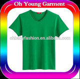 china t shirt v neck t shirt for man green t shirt shine cotton spandex t shirt