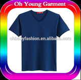 Stretch t shirt v neck cutting t shirt for man antipilling t shirt with printing logo