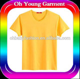Stretch t shirt v neck cutting t shirt for man antipilling t shirt HEALTH YOUNG BOY TUBE SHIRTS