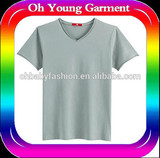 Grey t shirt  china t shirt selling hot in usa