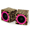 Leopard print mini colorful paper fold speakers SG-S10