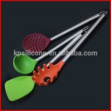 Good Nylon Silicone Kitchen Utensils with Stainless steel Grips